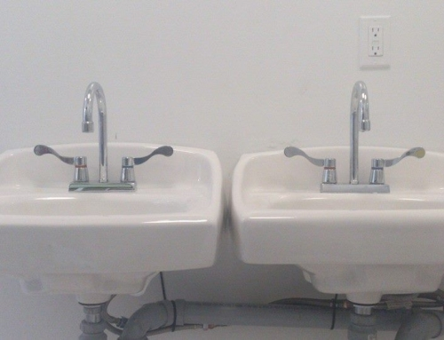 2 Small Sinks installed for Daycare